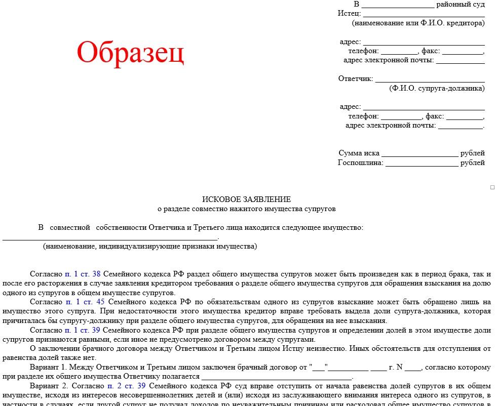 Заявление на представительство в суде образец